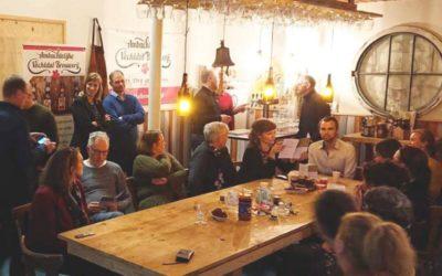 Bijeenkomst bij Ambachtelijke Vechtdal Brouwerij